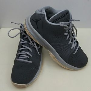 Jordan Youth Gray Suede Lace Up Sneakers